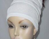 Headband-Tube-Dreadlocks-Braids-Natural Hair-White-Virtuous Creations