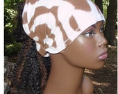 Expandable Band-Headband-Natural Hair Accessories-Locs-Dreadlocks-Brown & White