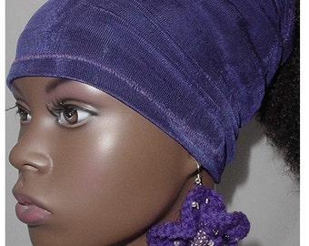Natural Hair Accessories-Headband-Tube-Dreadlocks-Locks-Purple