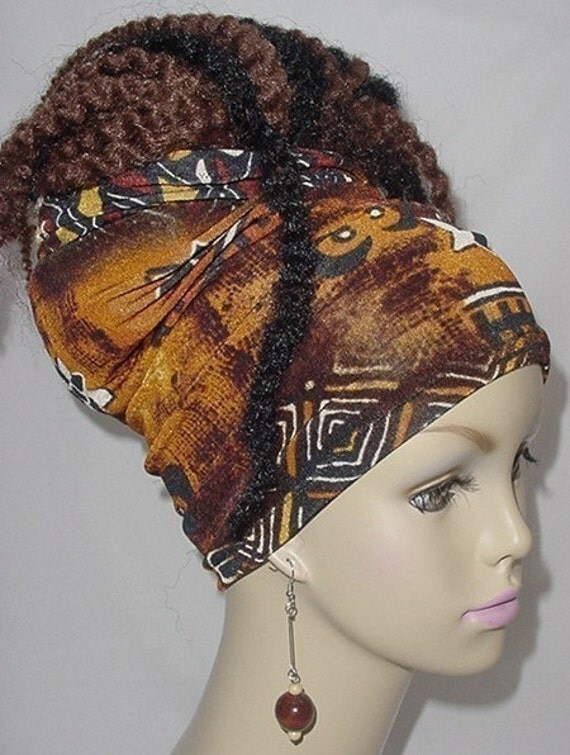 Natural Hair Accessories-Headband-Tube-Dreadlocks-Locs-Ethnic