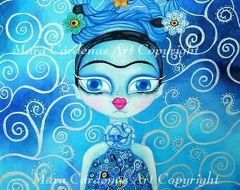 Blue Frida PRINT