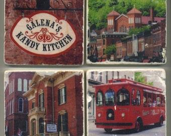 Galena Illinois Collection - 4 original coasters