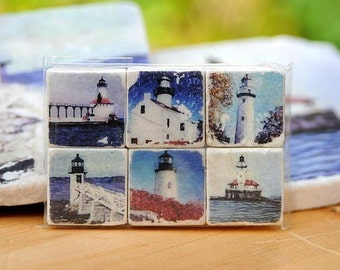 Lighthouse Magnet Collection - set of 6