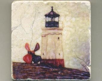 Vermillion Light in Ohio-  Original Coaster