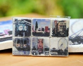 Chicago Magnet Collection - set of 6