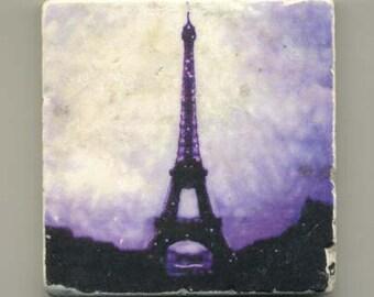 Purple Eiffel Tower Original Coaster