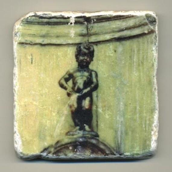 Manneken pis in Belgium - Original Coaster