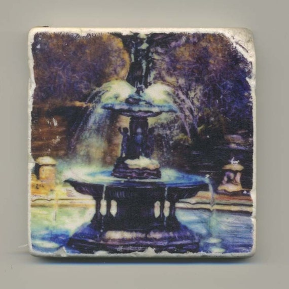 Bethesda Fountain in Central Park- Original Coaster