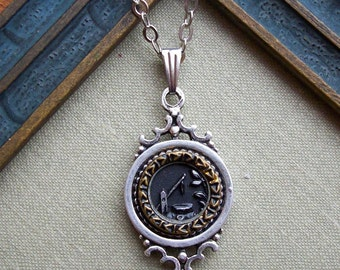 Wishing Well, Antique Button Necklace