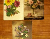 French vintage postcards (flower theme)