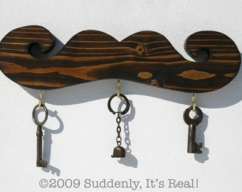Half Pint Mustache key hook for small spaces