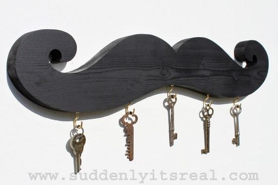 black mustache key hook