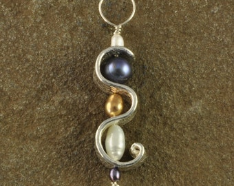 Pearls and Fine Silver Pendant