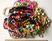 HUGE Vintage Bead Necklace Destash Lot