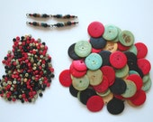 SALE Coconut Shell Wooden Bead Lot