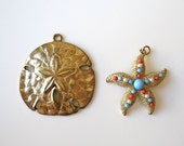 Sand Dollar And Starfish Pendants