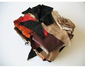 HUGE Suede Leather Scrap Destash Lot
