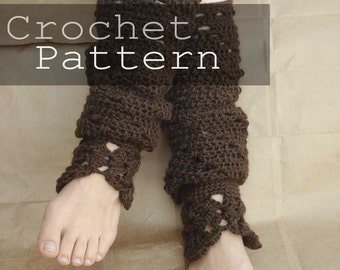 *Crochet a pair of retro leg warmers with the Yarn Lover's