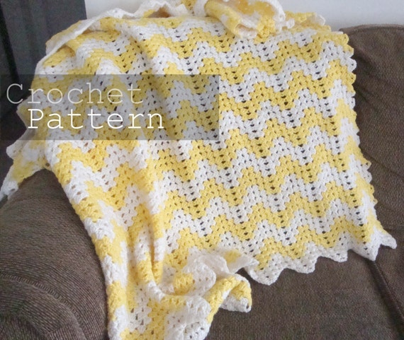 Free Crochet Twin Blanket Pattern : Chevron Blanket Crochet Pattern Twin size by smallpackagess