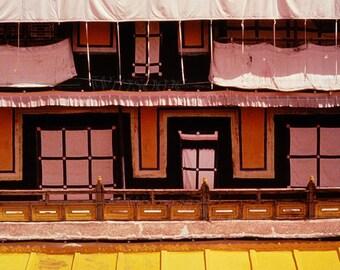 TIBET -  Yellow Roof of POTALA Palace --  Dalai Lama Home - BLANK 5 X 7 NOTECARD frameable Art Photo with FREE Origami Crane