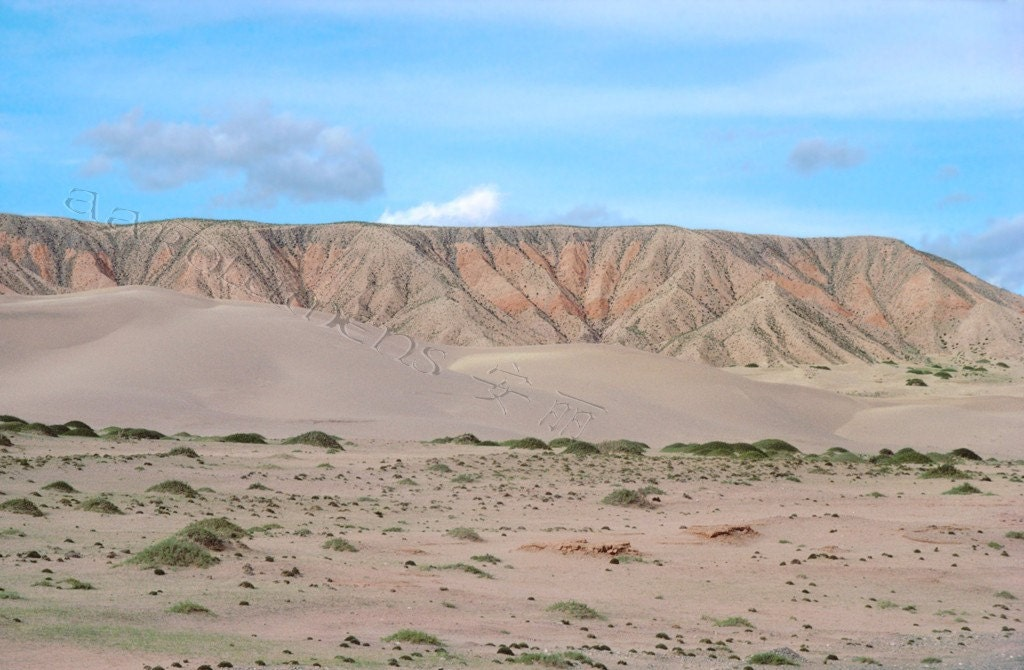 china gobi desert sand mountain blank 5 x 7 scenic notecard