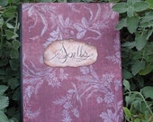 Antiqued Spell Book, Burnt Tapestry Cover Paper-ONLY 1 LEFT!