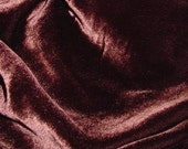 Silk VELVET fabric 28 percent silk 72 percent rayon yummy MILK CHOCOLATE