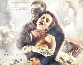 ART SILK panel - The Phantom of the Opera