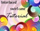 TUTORIAL - interlaced SWIRL cane - pdf polymer clay cane