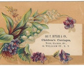 Antique Paper Cardstock Advertisement for Children's Carriages Toys and Games