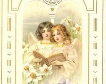 Vintage German Easter Cardstock Print