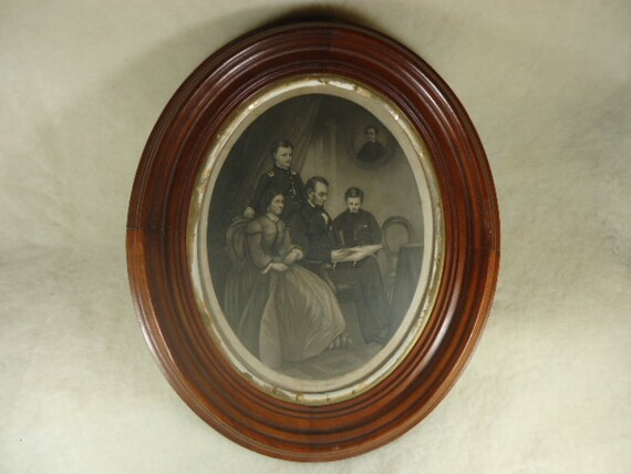 reserved for tom antique framed oval prints pair of george