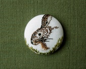 embroidery rabbit hand embroidered miniature portrait bunny button brooch pin