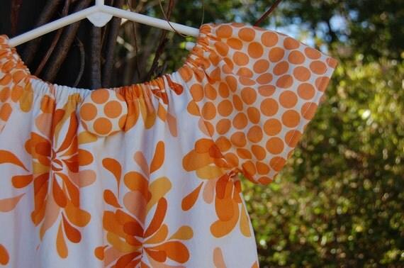 Girls handmade dress / clothing  / toddler dress / childrens peasant dress in Sandi Henderson's beautiful Farmers Market Fabric