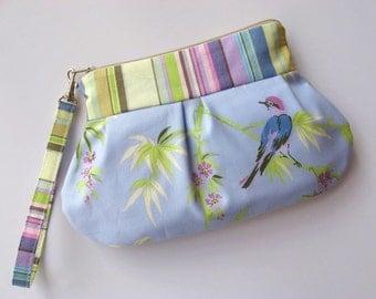 Zip & Go Wristlet / Amy Butler retired fabric