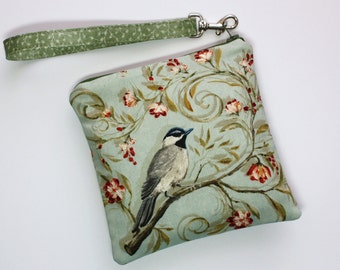 Bird Wristlet / Pouch / Coin Purse