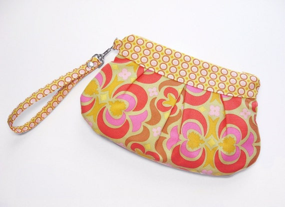 Zip and Go Wristlet  Amy Butler fabric