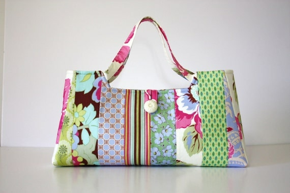 Sweet Pea Handbag - Amy Butler's Gypsy Caravan fabric