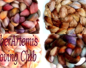 Fiber Artemis Roving Club 3 months membership Price INCLUDES INTERNATIONAL shipping