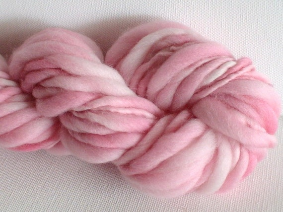 Handspun merino yarn Thick and Thin 1.35ozs 38yds Baby Girl