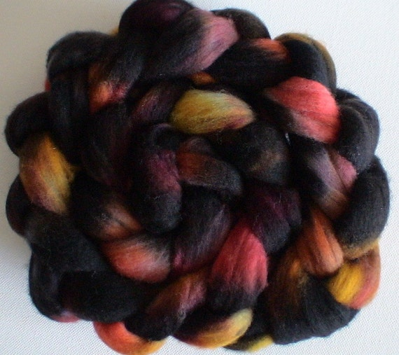 New Zealand Polwarth roving for spinning or felting 3ozs Snake