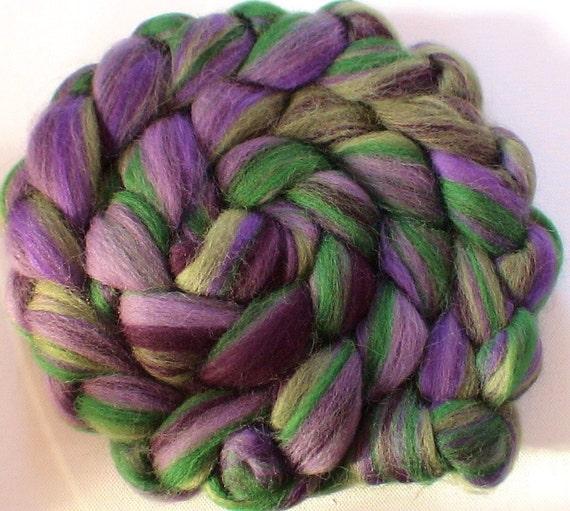Wool Roving shetland silk Custom Blend for spinning or felting Violetta 4ozs