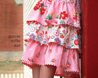 gracie ruffle skirt pattern by marie-madeline studio (M069)