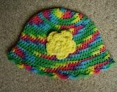 Crochet Cotton Cycadelic Colour Floppy Teen/Adult Hat