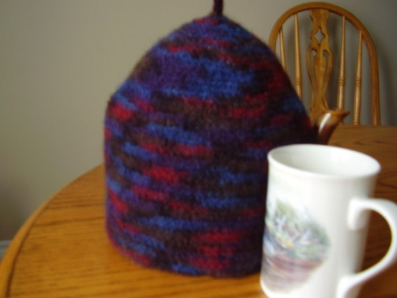 Beautiful Variegated Felted Tea Cozy