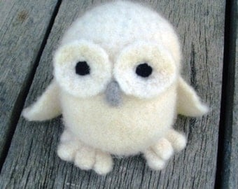 PATTERN PDF Crocheted and Felted White Owl Amigurumi Pattern