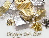 TUTORIAL  Origami gift box in 2 parts with separate lid, now available as a digital download