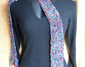 SUPER SALE - Rainbow - 68 inch Long Knitted Scarf - FREE SHIPPING