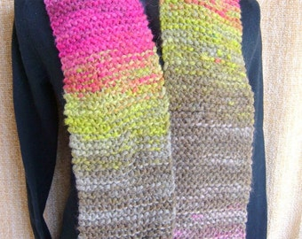 SUPER SALE - Olympia - 62 inch Long Knitted Scarf - FREE SHIPPING