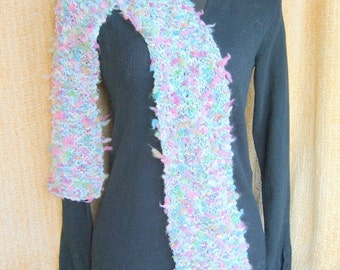 SUPER SALE - Melon Parfait - 76 inch Long Knitted Scarf - FREE SHIPPING